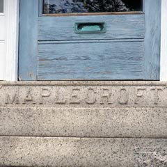 "Lizzie had ""Maplecroft"" carved into the top step of the front porch. The neighbors did not approve."