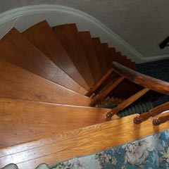 Bridget Sullivan & Mrs. Churchill climbed this stairway in search of Mrs. Borden.