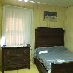 Elzire Dionne gave birth to 13 children — including her quintuplets — in this bedroom.
