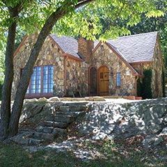 "The ""Rock House,"" built by Rose Wilder for her parents, Laura and Almanzo, Mansfield, Missouri."
