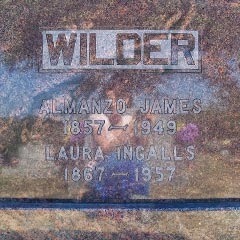 Gravesite of Laura and Almanzo Wilder, Mansfield, Missouri.