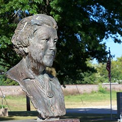 Monument to Laura Ingalls Wilder, Mansfield, Missouri.